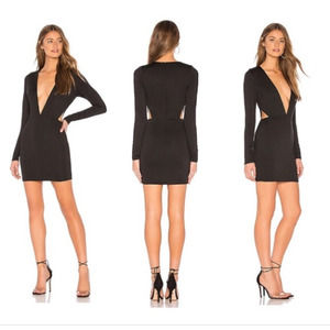 Superdown Revolve Rhonda Cutout Dress Black Mini S